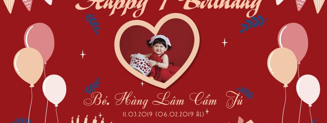 Tiệc Sinh nhật lần thứ nhất Bé CẨM TÚ 11.03.2019 (06.02.2019 ÂL)
